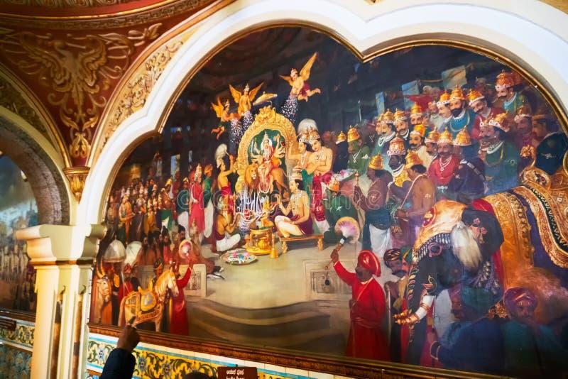 Mysore-Palast, Bangalore, Indien lizenzfreie stockfotos