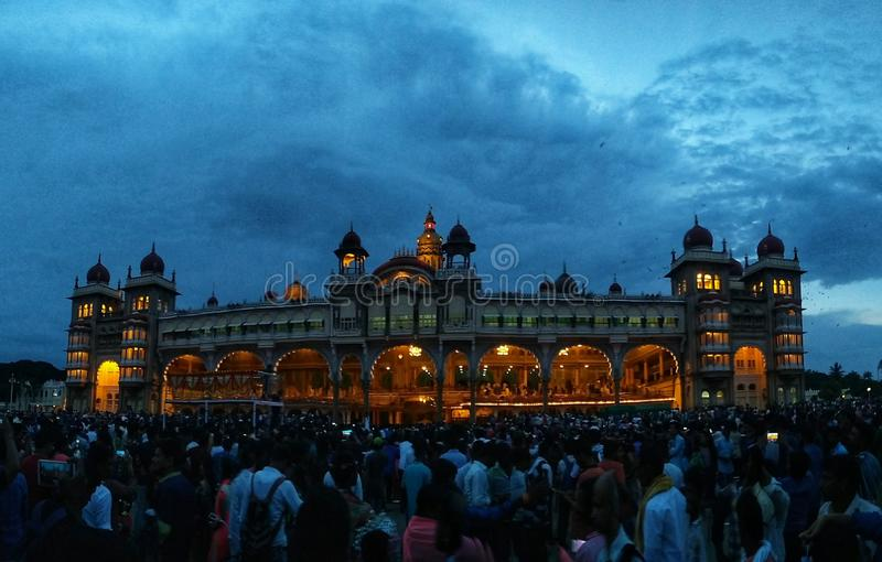 Mysore-Palast, Indien stockfoto