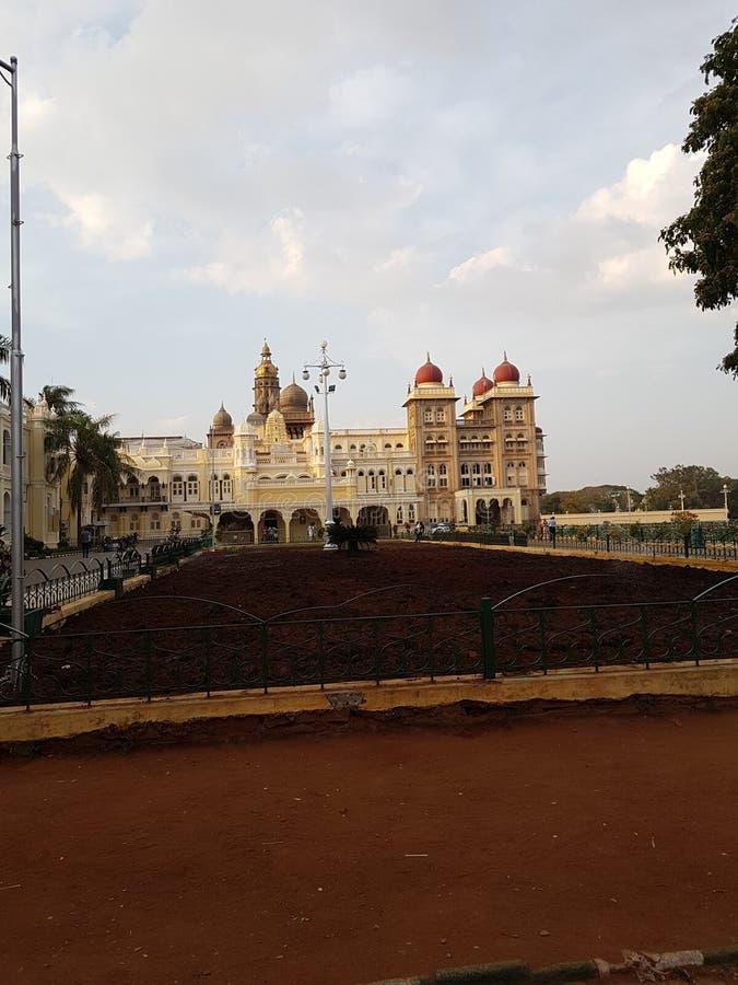 Mysore slott av karnataka royaltyfria foton