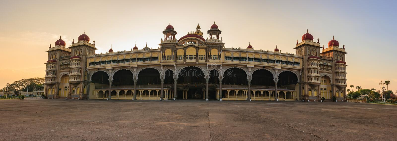 Mysore slott - Indien arkivbild