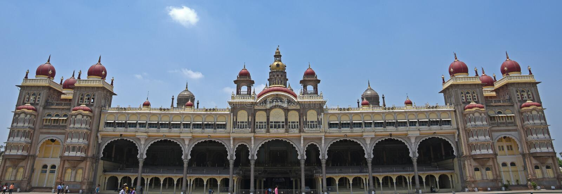Mysore slott, Indien royaltyfria foton