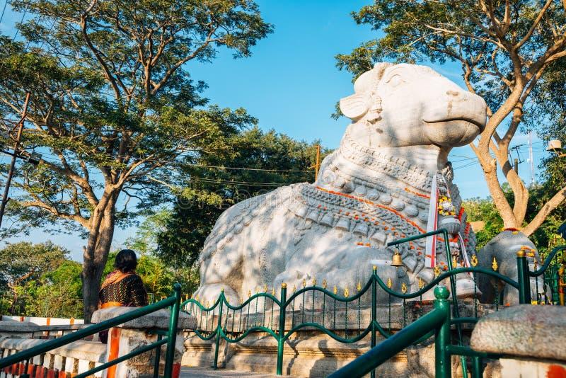 Mysore Sri Nandi Temple dans l'Inde photos stock