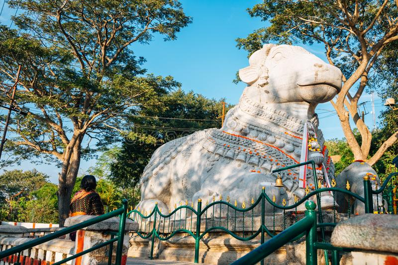 Mysore Sri Nandi Temple na Índia fotos de stock