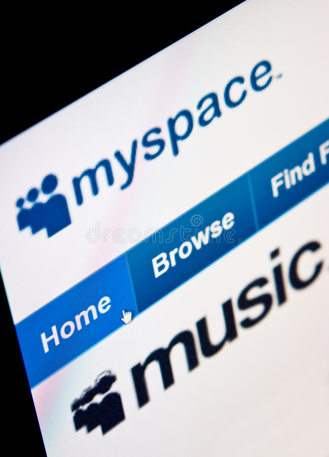 Download Myspace editorial stock image. Image of profile, monitor - 16170774