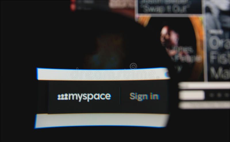 Download Myspace editorial photo. Image of global, music, communication - 38838796