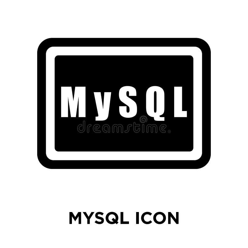 Mysql在白色背景隔绝的象传染媒介,商标概念  皇族释放例证