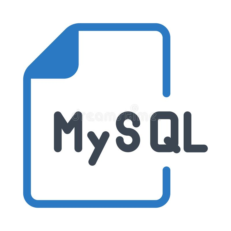 MySQL file glyphs double color icon. MySQL glyphs double color icon Vector flat Icon. Elements for mobile concept and web apps. Thin line icons for website royalty free illustration