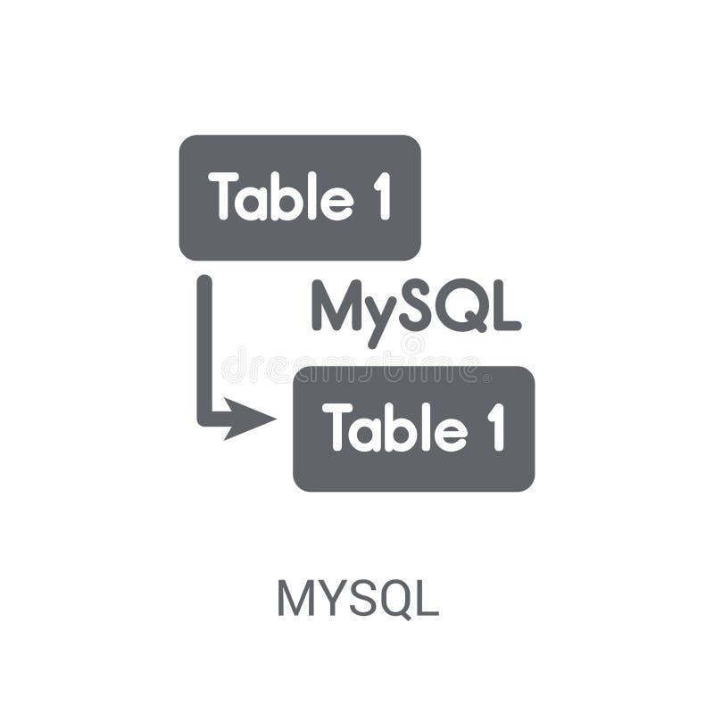 Mysql symbol  stock illustrationer