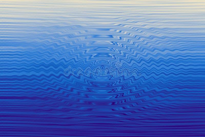 Mystère bleu d'abrégé sur vague de nature illustration de vecteur