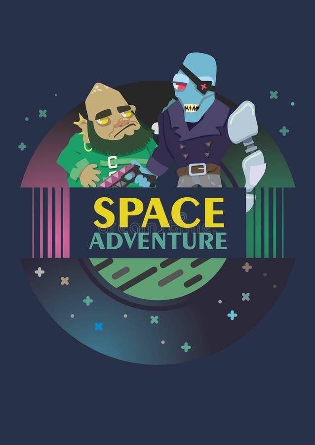 Mystère cosmique Illustration de vecteur pirates de l'espace illustration libre de droits