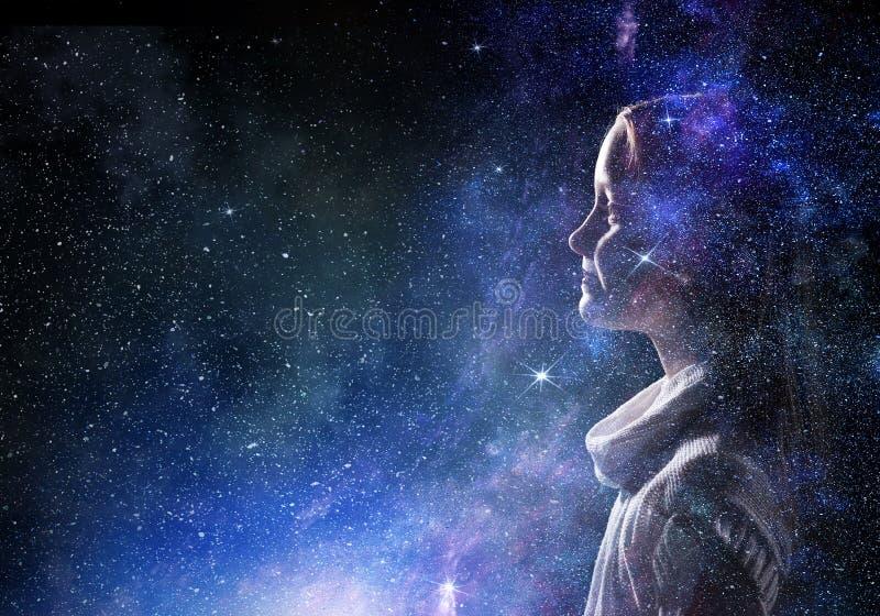 Mystère de monde de l'espace image stock