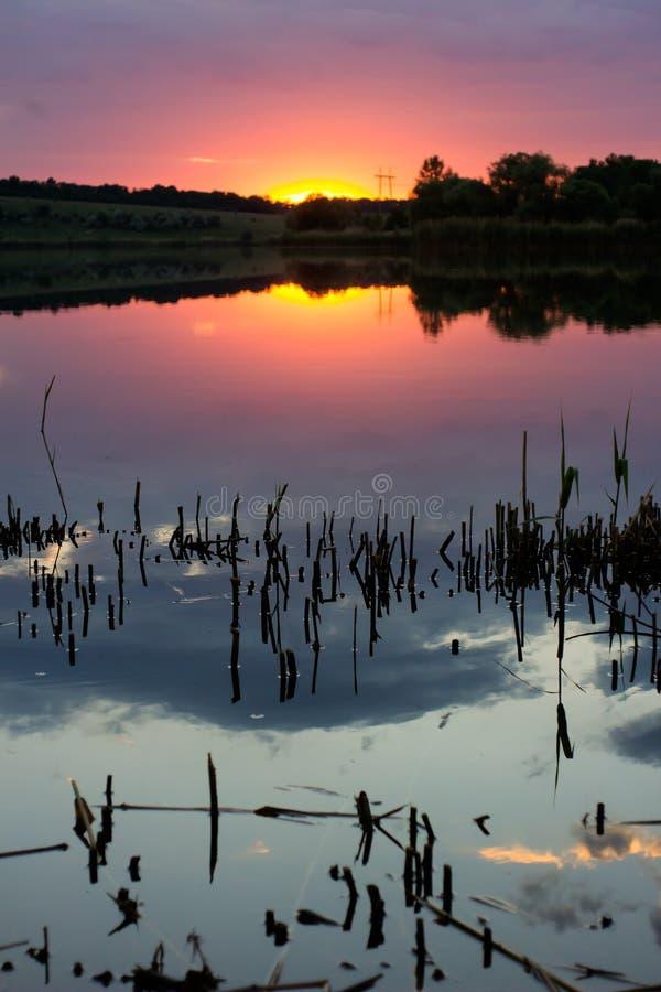 Mysteriöse Landschaft der Sommerlandschaft lizenzfreies stockbild