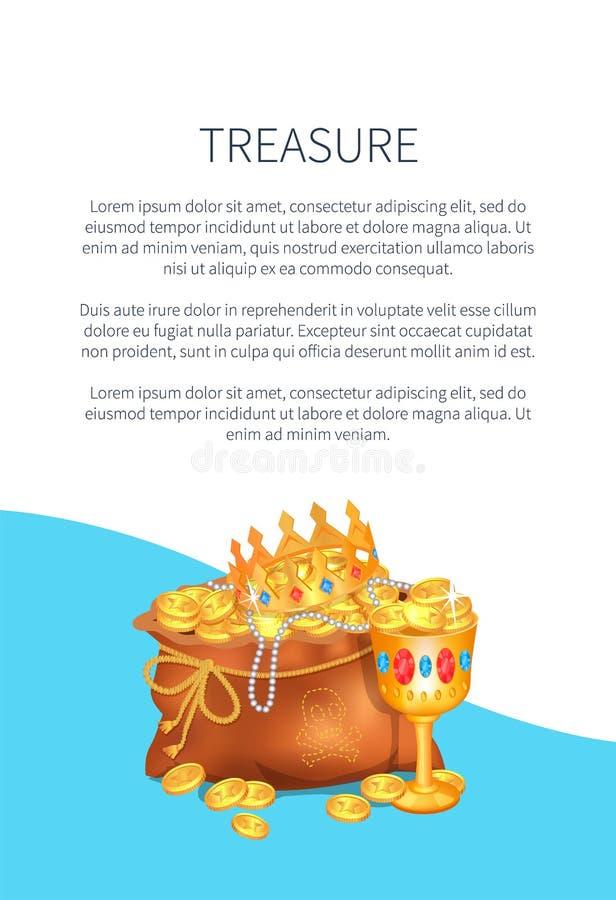 Mysteriöses Rreasure versteckt in der Tasche Königliche Krone lizenzfreie abbildung