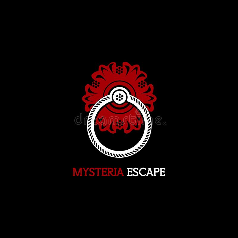 Mysteria逃命商标传染媒介设计 皇族释放例证