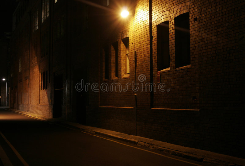 Mysterious Alley stock images