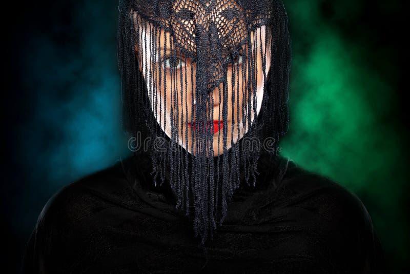Mysterious arabic girl stock image