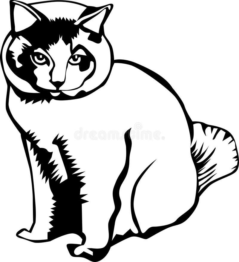 Download Mysterious cat stock illustration. Image of digital, illustration - 16005922