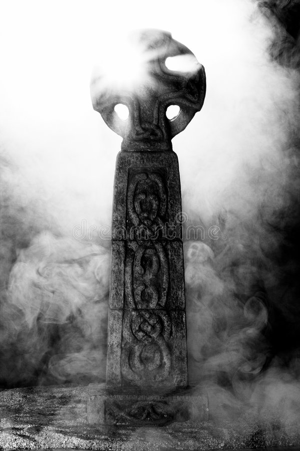 Mysterious Celtic Cross IV royalty free stock images