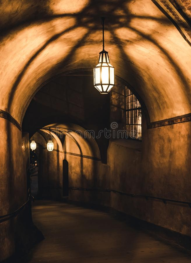 Free Mysterious Corridor In The Old Dungeon Royalty Free Stock Photos - 148342308