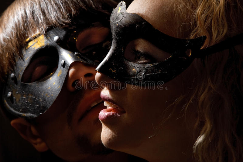 Mysterious couple stock images