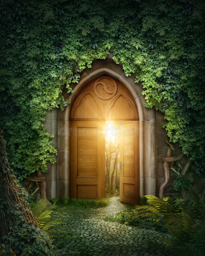 Mysterious entrance vector illustration