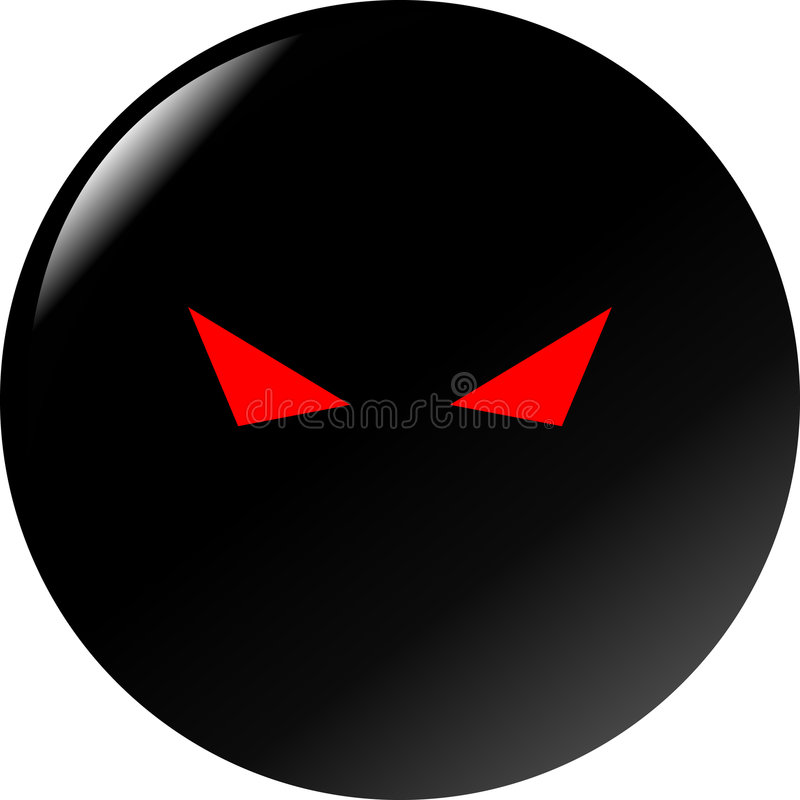 Download Mysterious Evil Eyes Vector Black Button Stock Vector - Image: 2591339