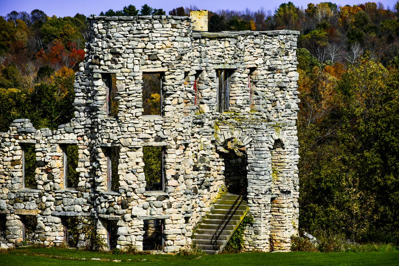Maribel Caves Hotel, Ruins, Wisconsin, Hotel Hell royalty free stock photography