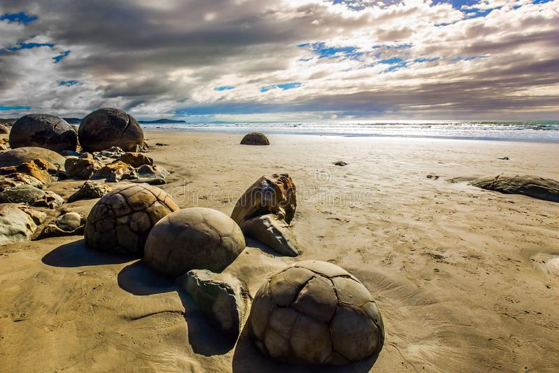 The mysterious huge round boulders royalty free stock photo