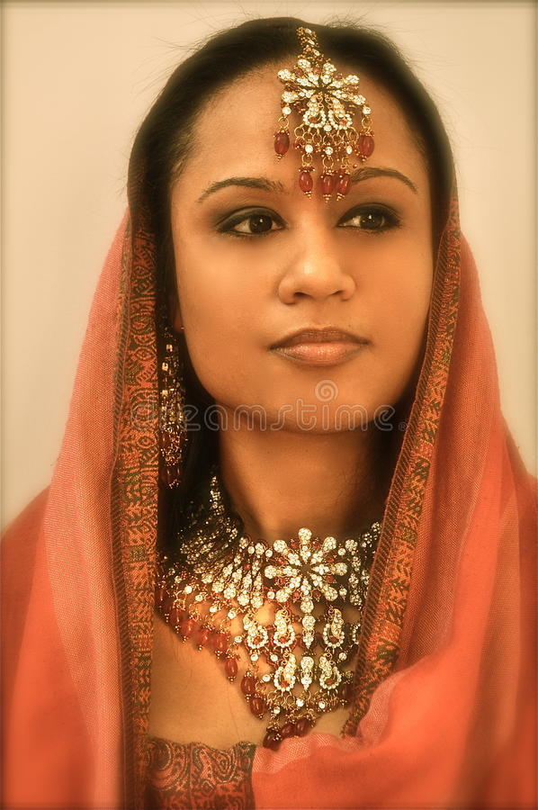 Mysterious Indian Girl stock image