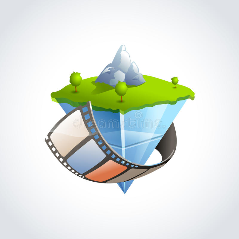 Mysterious Island icon royalty free illustration