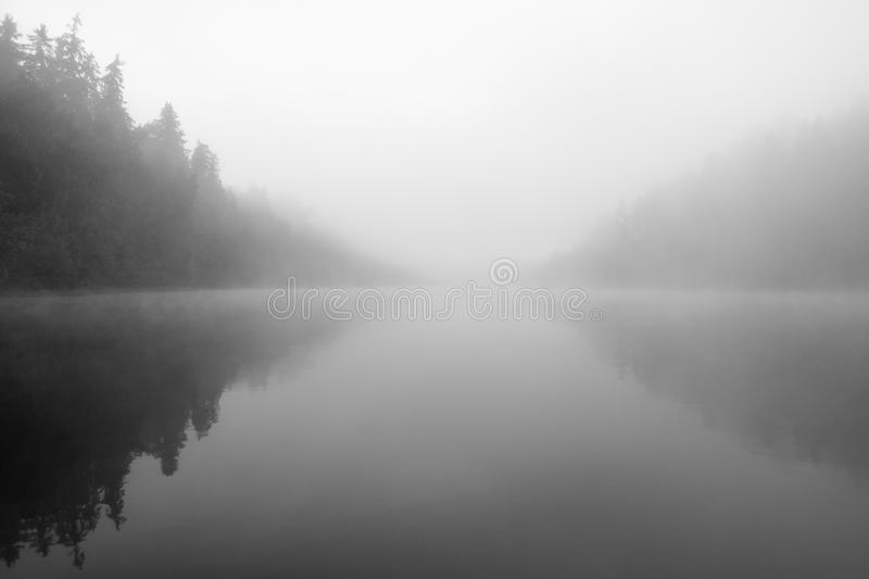 Mysterious lake royalty free stock image