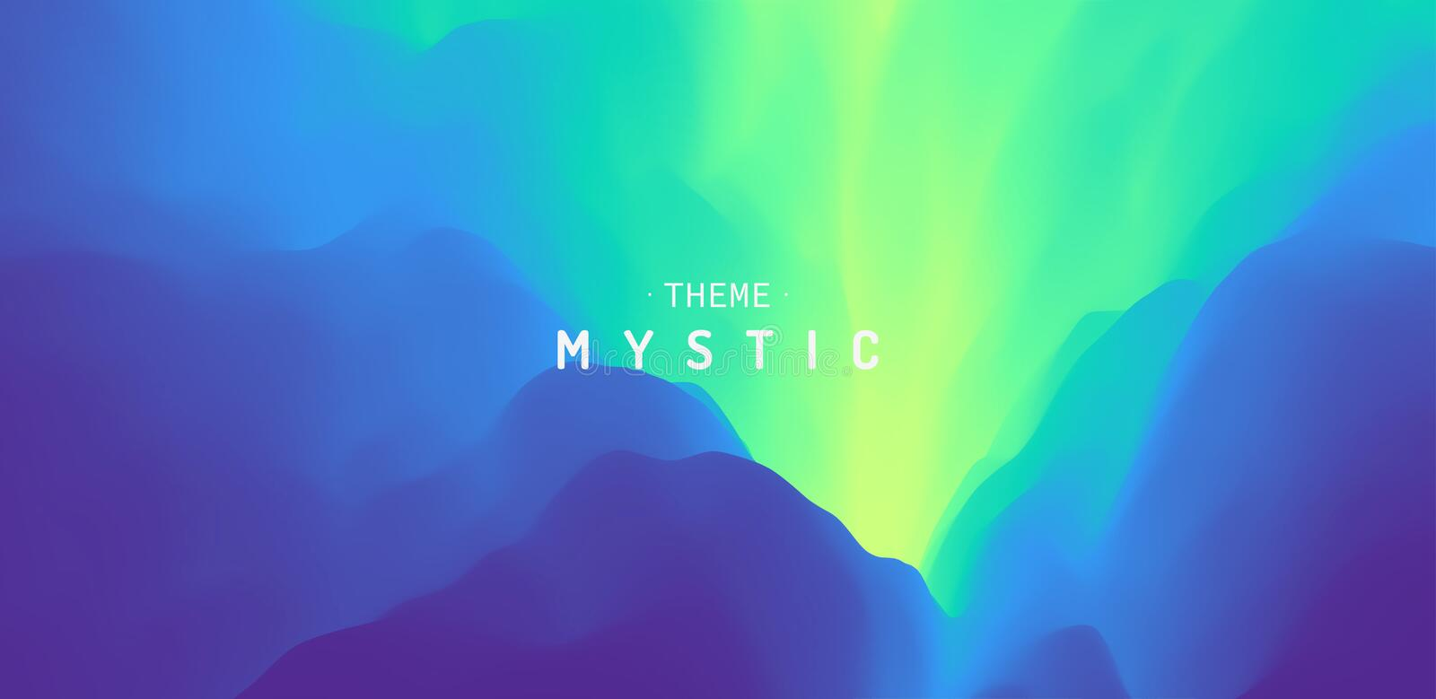 Mysterious landscape background. Mystic vector Illustration. Trendy gradients. Can be used for advertising, marketing, royalty free illustration