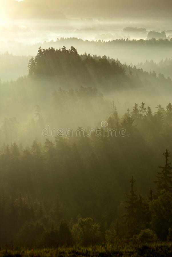 Mysterious Landscape of Bohemian Switzerland royalty free stock image