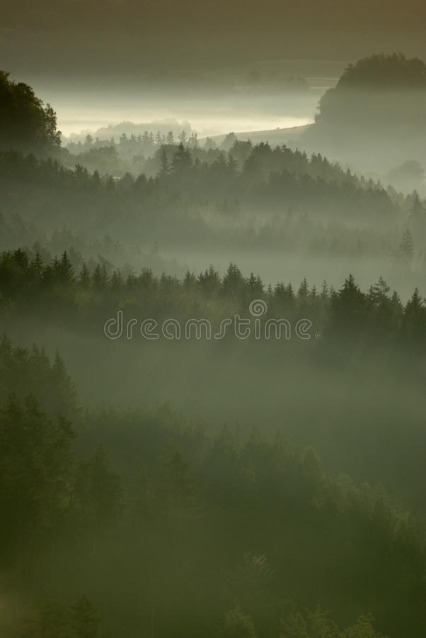 Mysterious Landscape of Bohemian Switzerland royalty free stock photography
