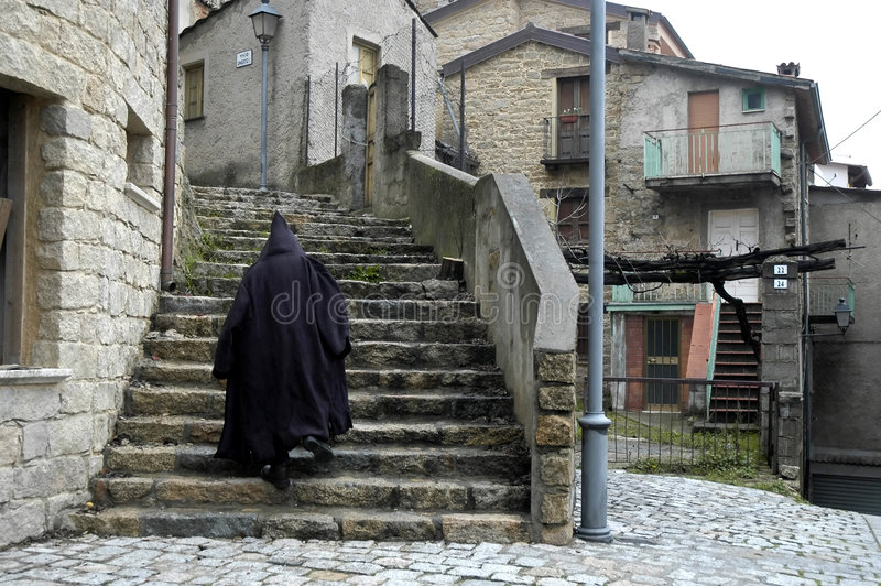 Download Mysterious man on stairs stock photo. Image of mystery - 7622882