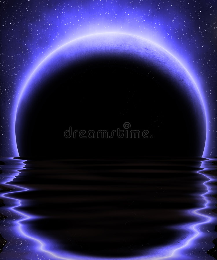 Mysterious moon royalty free stock images