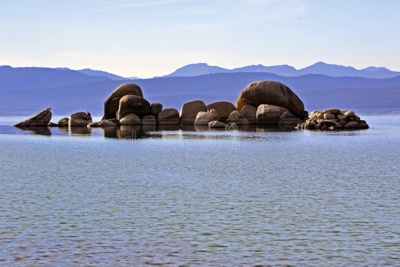 Mysterious Tahoe Lake Stones royalty free stock images