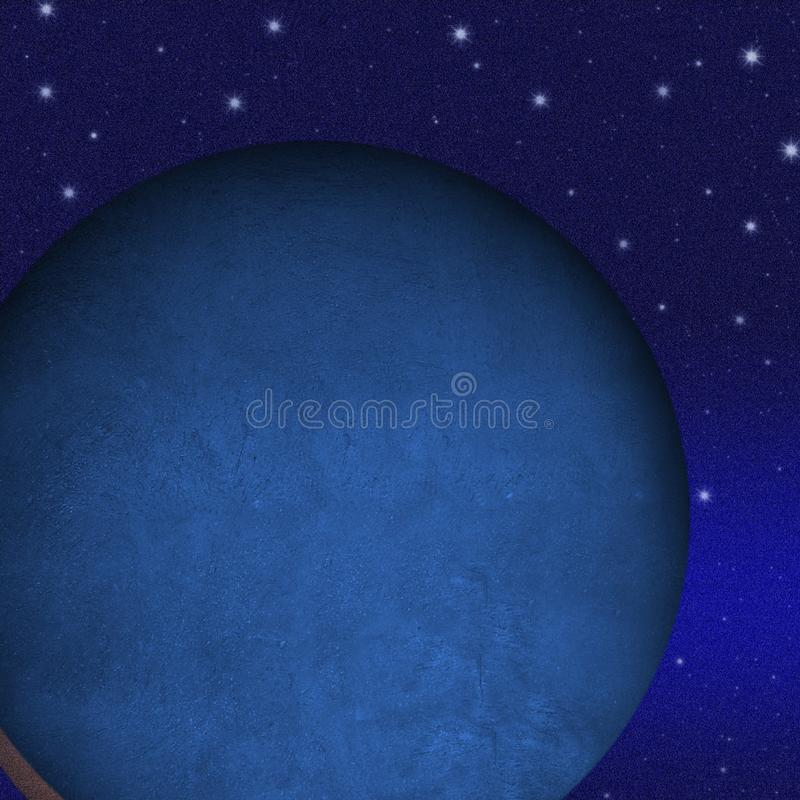 Mysterious planet royalty free illustration