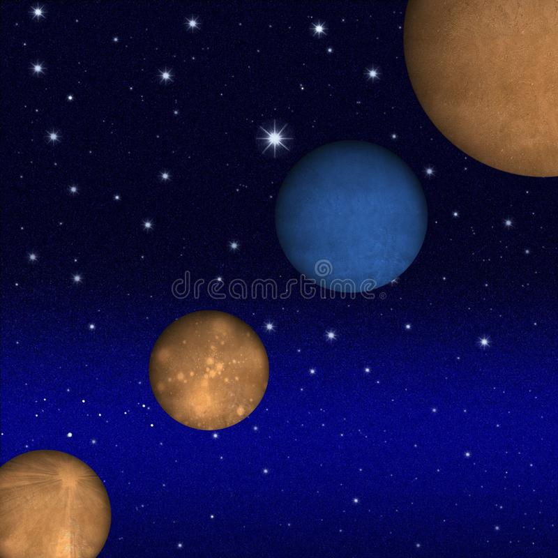 Mysterious planet vector illustration