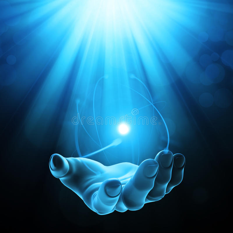 Download Mysterious power stock illustration. Image of light, magician - 26017199