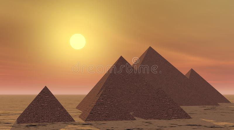 Download Mysterious Pyramids By Sunset Stock Photos - Image: 14968913