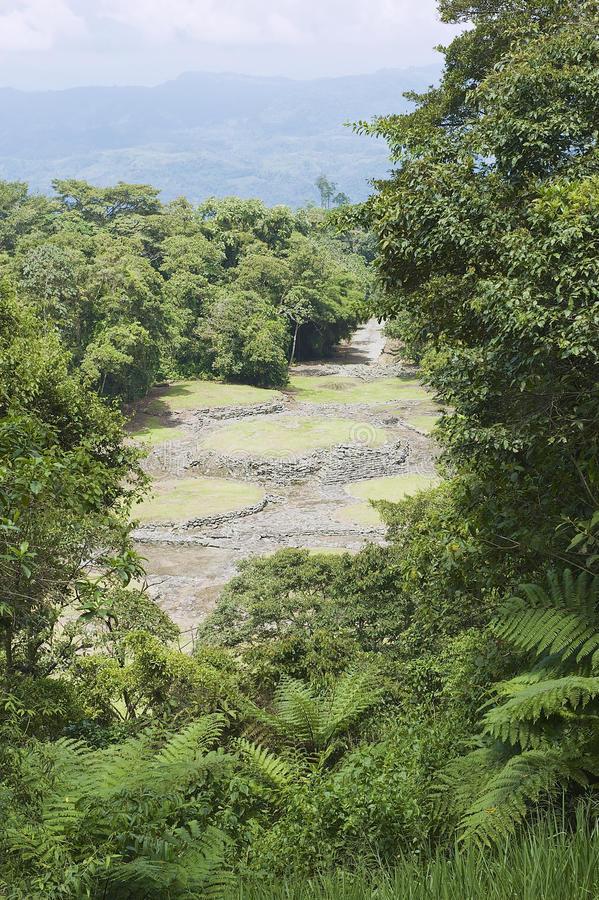 Mysterious ruins of Guayabo de Turrialba, Costa Rica. royalty free stock photo