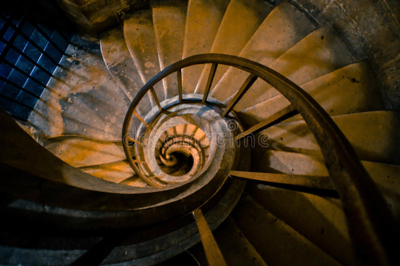 Mysterious Spiral Stairs in France royalty free stock images