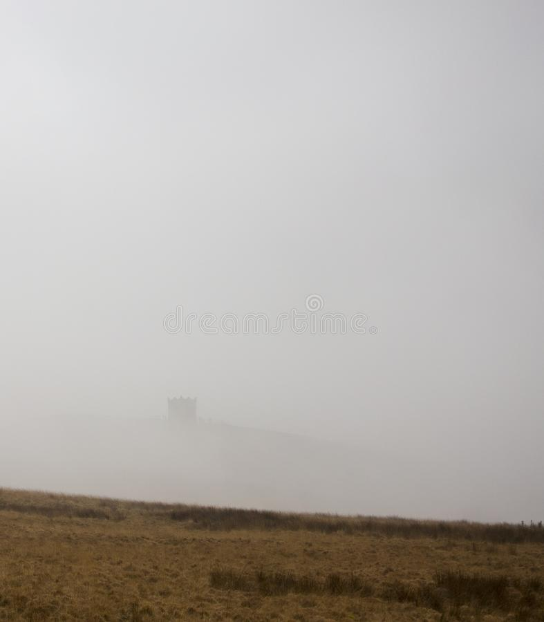 Rivington Pike in mist royalty free stock photography