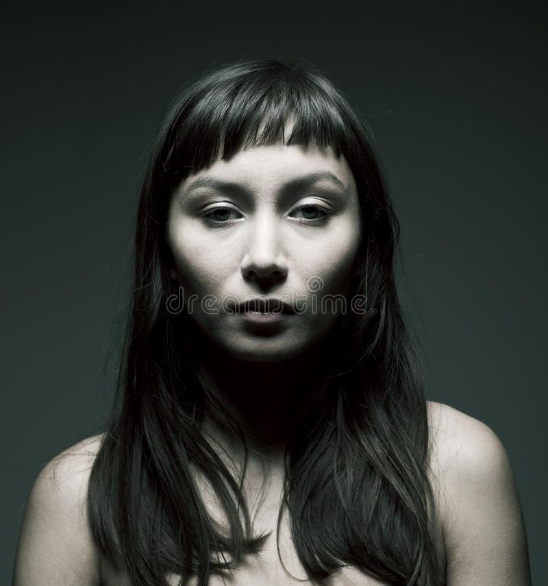 Mysterious woman royalty free stock photography