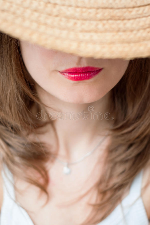 Mysterious woman royalty free stock images