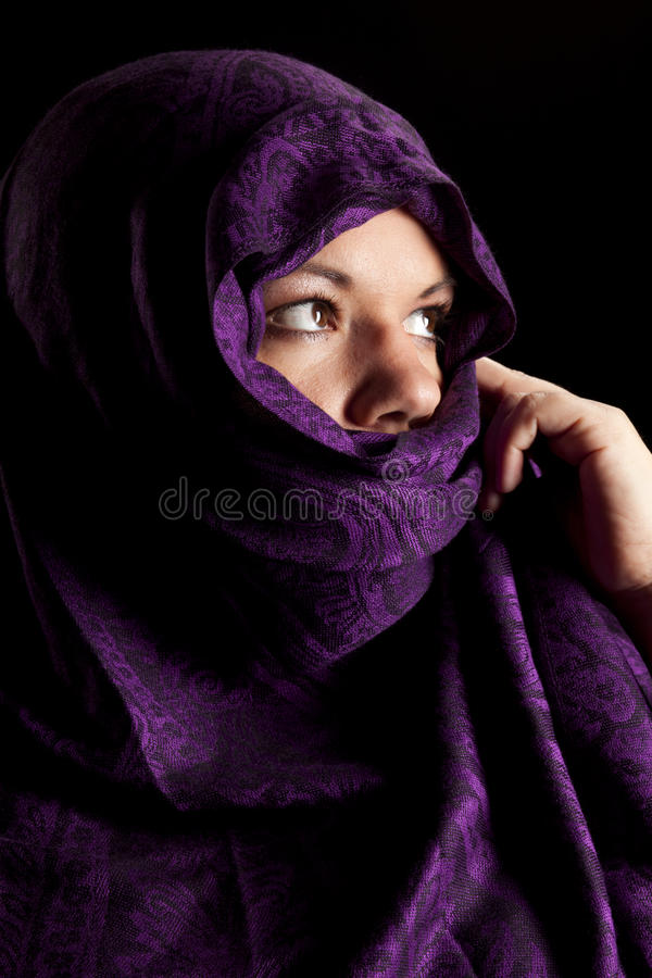 Download Mystery stock photo. Image of adult, arabic, female, beautiful - 12345710