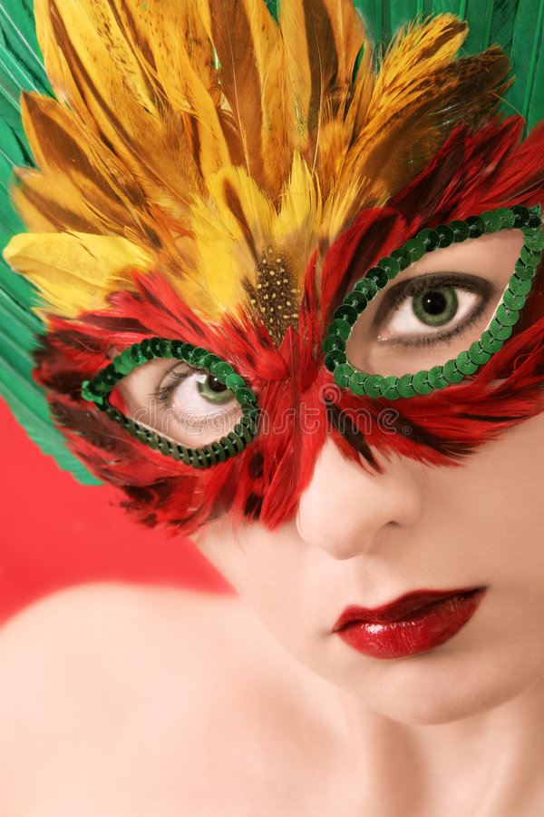Mystery. Woman in the mask