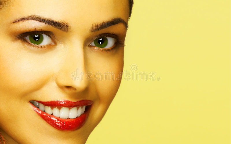 Mystery. Beautiful smiling woman