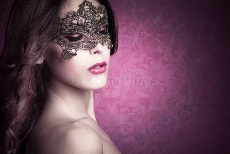 Mystery beauty royalty free stock photos